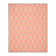 Safavieh Cambridge Collection CAM352 Rug, Coral/Ivory, 9'x12'