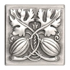 Autumn Squash Tile Antique Pewter