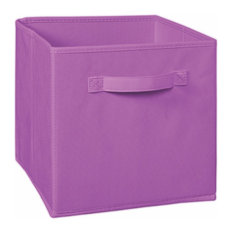 Cubeicals Colourful Fabric Drawers, Amethyst, Set of 2
