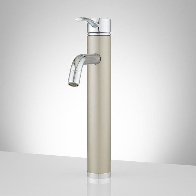 Farrow Single-Hole Vessel Faucet with Pop-Up Drain - Contemporary ...