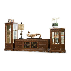 Grosvenor TV Cabinet Antique Cocoa Low