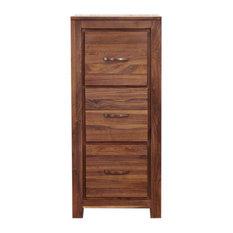 3 Drawer Mayan Solid Walnut Filing Cabinet