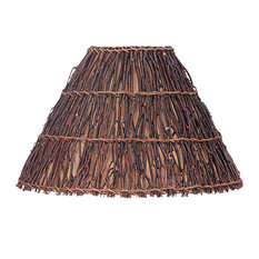 cal lighting cal lighting round hard back twig shade lamp shades