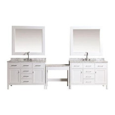 Design Element London Single Sink Vanity Set, Make-up Table