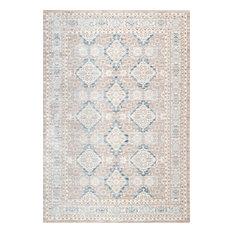 """Vintage Ornamental Diamond Area Rug, Taupe, 7'10""""x10'10"""""""