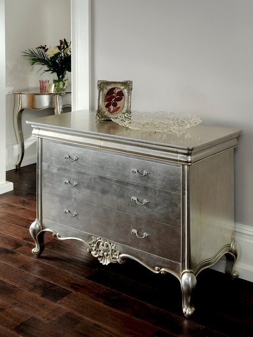 Cristal Silver Leaf French Bedroom Furniture
