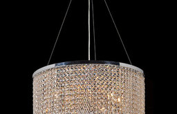 Prism Nine-Light Chrome Finish with Clear-Crystals Chandelier