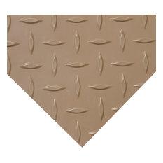 Rubber-Cal Diamond-Plate Metallic PVC Floor  2.5mm, 4'  2 Colors -10 Lengths, Be
