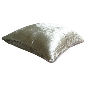 Pearl Solid Color Cushions Cover, 50x50 Velvet Cushion Covers, Pearl Shimmer