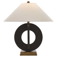 Feival 1 Light Table Lamp in Black And Antique Brass