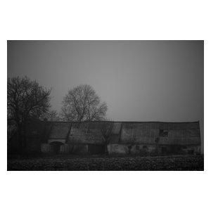 Deserted Barn Black and White Fine Art Print, 40x30 cm