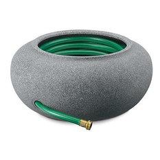 Akro Mils   Granite Garden Hose Pot And Planter   Garden Hose Reels