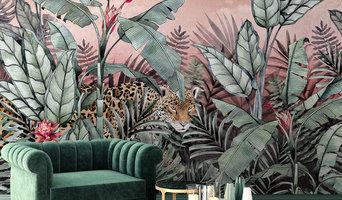 Sunset Jaguar Wall Mural