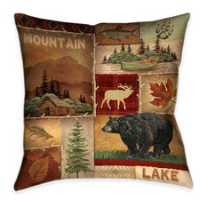 Lodge Collage I Decorative Pillow
