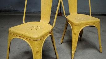 """Paire de chaises Tolix """"A"""" des années 50"""