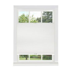 """Top Down-Bottom Up Cordless Honeycomb Cellular Shade, 23""""x64"""", White"""