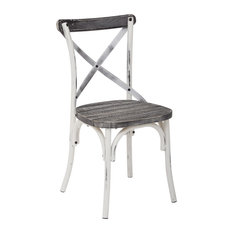 Office Star Products   Work Smart Somerset Chair With Vintage Style Seat,  Crazy Horse
