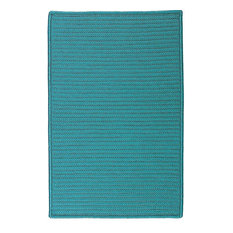 Colonial Mills, Inc - Braided Simply Home Solid, 12', Area Rug, Turquoise, Square 12' - Outdoor Rugs