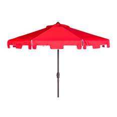 Safavieh Zimmerman Market Outdoor Umbrella With Flap, Red
