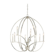 Minka Lavery Tilbury 9 Light Polished Nickel Chandelier