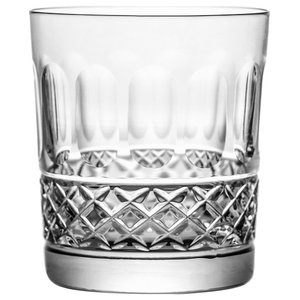 Old-Fashioned Lead Crystal Whisky Glasses With Yvan Cut, Set of 6