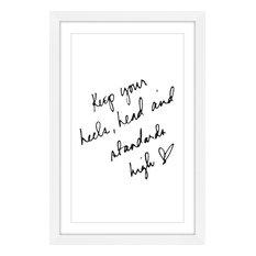 """""""Heels Head"""" Framed Painting Print"""