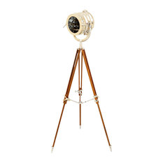 Nautical Sealight Tripod Lamp, Hand Made Brilliant Chrome Finish