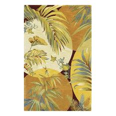 Kas Rugs - Floral Rugs Coral/Ivory Wool Rug, 3u0027 6