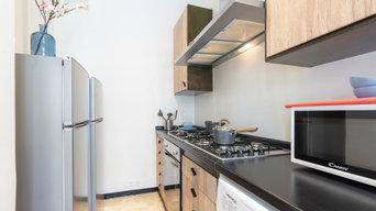 Rinnovo cucina con pellicola effetto legno