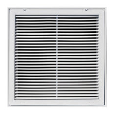 """Truaire Fixed Bar Return Air Filter Grille, 20""""x20"""", White"""