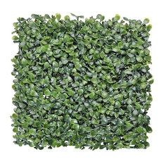 "24-Pieces 10""x10"" Artificial Boxwood Hedge Mat Privacy Fence Cable Ties UV"