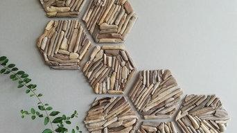 Плитка Hexagon - 3D плитка из морского дерева