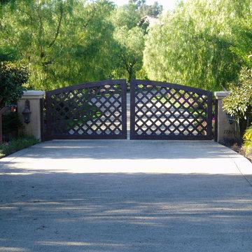 Estate Driveways, Entries, Gates, paving