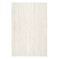 nuLOOM Hand Woven Jute and Sisal Rigo Area Rug, Off-White, 6'x9'