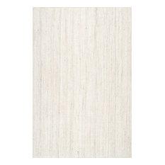 NuLOOM Hand Woven Maui Jt03 Braided Rug, White, 6u0027x9u0027   Area