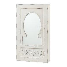 Listor Shabby Chic Wall Mount Jewelry Mirror