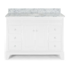 Gina Contemporary 48-inch Wood Single Sink Bathroom Vanity With Marble Counter Top