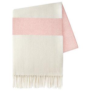 Sydney Stripe Herringbone Throws, Blush