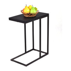 Costway Tray Sofa Side End Table Ottoman Couch Console Stand TV Lap Snack Black