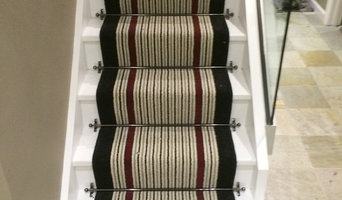 STONEGATE CARPETS BESPOKE STAIR RUNNER INSTALLATION USING BRINTONS CARPETS