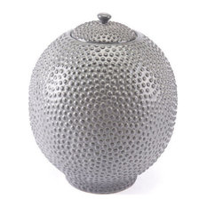 Zuo Decor Ceramic Jar, Gray