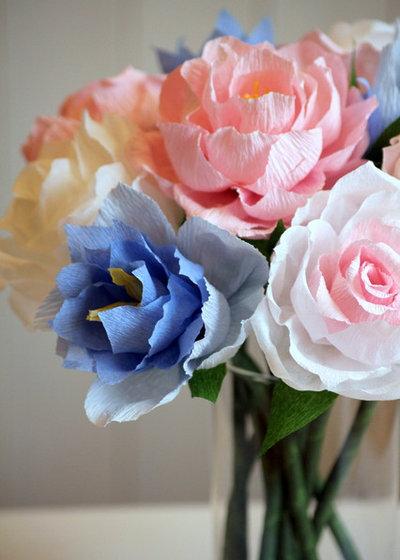 diy un magnifique bouquet de fleurs en papier pour la f te des m res. Black Bedroom Furniture Sets. Home Design Ideas