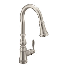 Moen S73004 Weymouth 1.5 GPM 1 Hole Pull Down Kitchen Faucet - Spot Resist