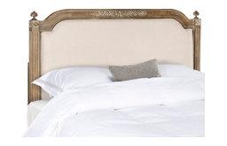 Safavieh Rustic Wood Linen Headboard, Queen