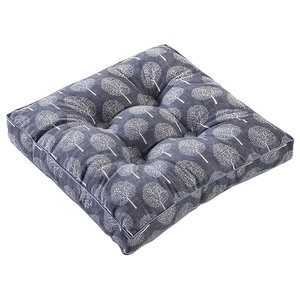 Gray Square Seat Cushion Floor Pillow Thickened Chair Pad
