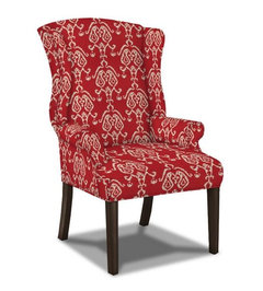 Iu0027ve Rendered It In A Bold Red Ikat Below, Which Would Add Color And  Reference The Interesting Lines Of Your Side Chairs.