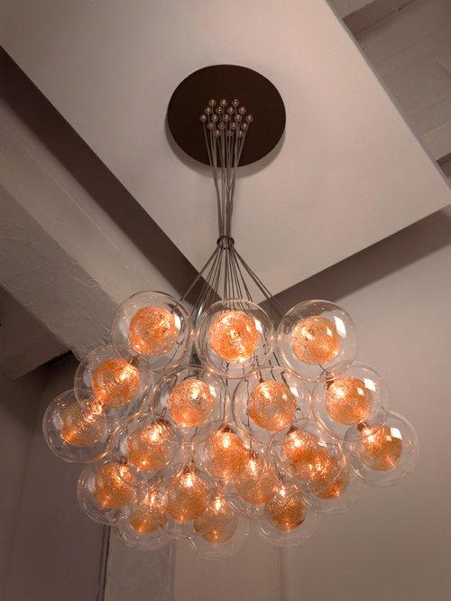 KADUR | Custom Blown Glass Chandelier | Modern Glass Lighting