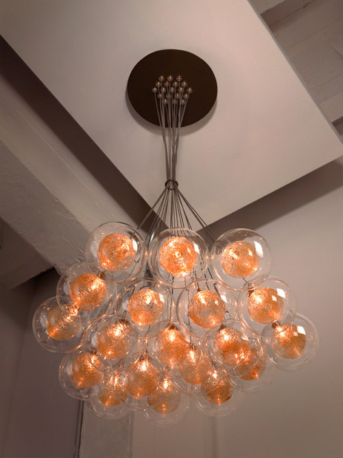 modern glass chandelier lighting. kadur custom blown glass chandelier modern cluster light lighting