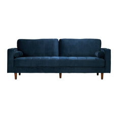 Edgemod Furniture - Poly and Bark Inga Sofa with Velvet in Blue - Sofas