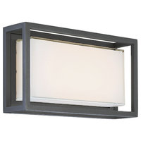 "Framed 14"" Outdoor Wall Sconce, Bronze"